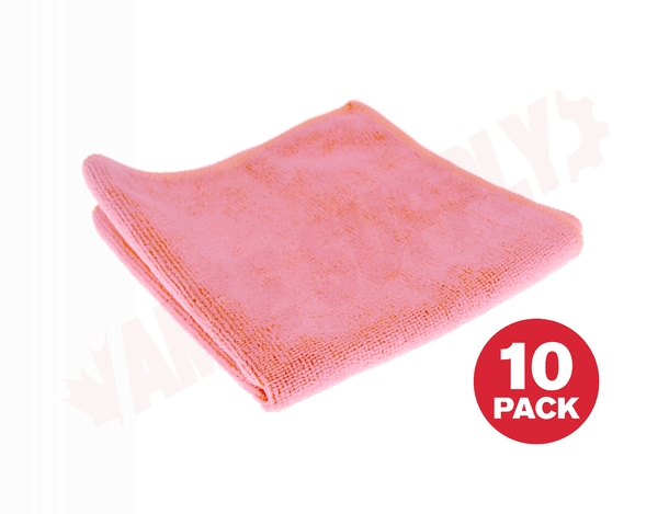Photo 1 of 3131P : Globe Microfiber Cloth, Pink, 14 x 14, 10/Pack
