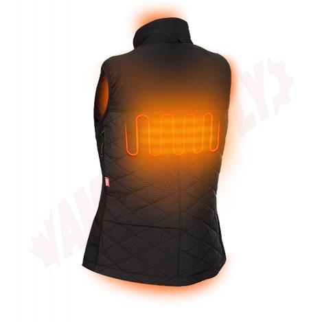 Photo 5 of 333B-21L : Milwaukee M12 AXIS Heated Women's Vest Kit, Black, Large