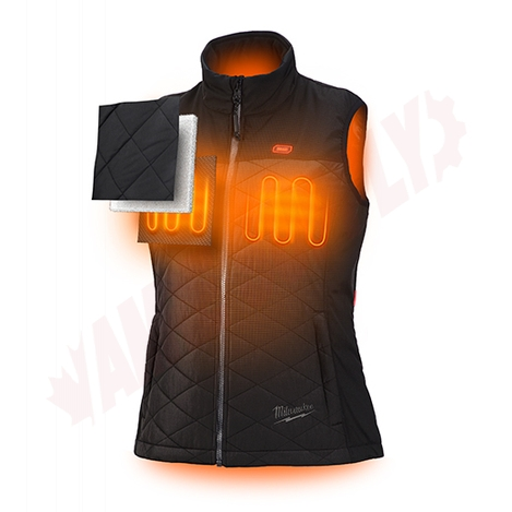 Photo 3 of 333B-21L : Milwaukee M12 AXIS Heated Women's Vest Kit, Black, Large