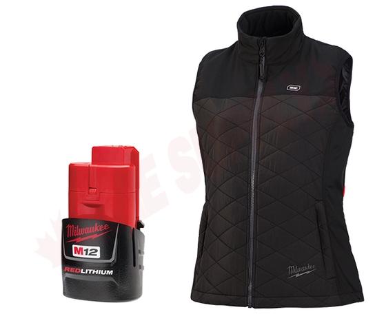 Photo 1 of 333B-21L : Milwaukee M12 AXIS Heated Women's Vest Kit, Black, Large