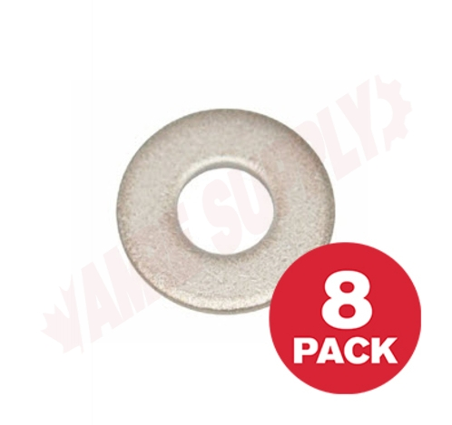 Photo 1 of PWS14MR : Reliable Fasteners Flat Washer, USS, Stainless Steel, 1/4, 8/Pack