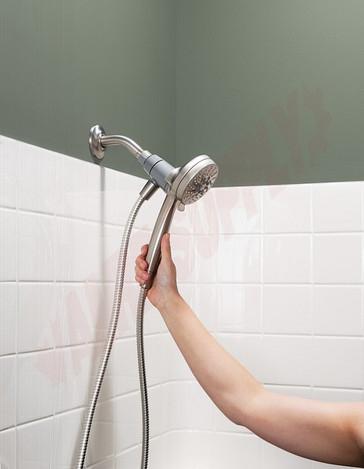 Photo 4 of 26100EPSRN : Moen Engage Magnetix Spot Resist Eco-Performance Handshower Handheld Shower, 1.75 Gpm, Brushed Nickel
