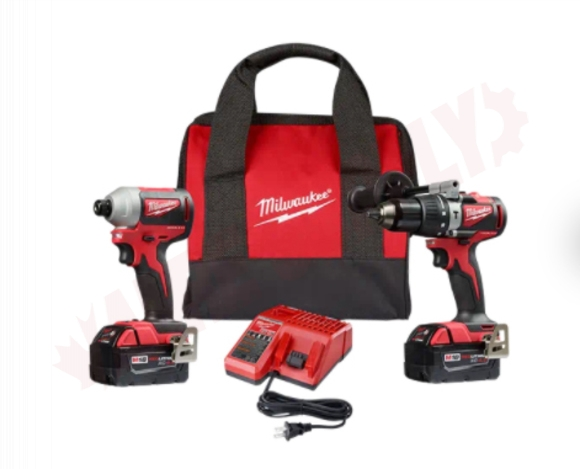 Photo 1 of 2893-22 : Milwaukee M18 Brushless 2-Tool Combo Kit, Hammer Drill & Impact Driver