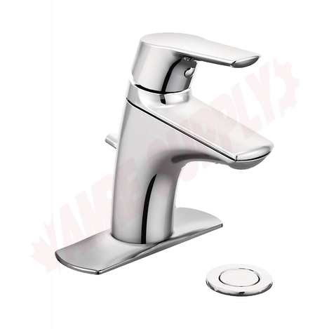 Photo 1 of 66810 : Moen Method Single Handle Low Arc Lavatory Faucet, Chrome