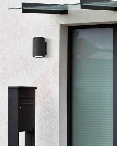 Photo 2 of LOL521BK : Canarm Calmar Outdoor LED Wall Light, 9W, 3000K, Black