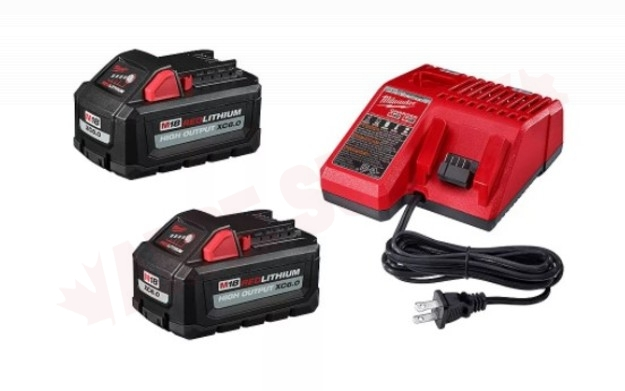 Photo 1 of 48-59-1862SC : Milwaukee M18 18V Lithium-Ion High Output Starter Kit, 2 Batteries, with Charger