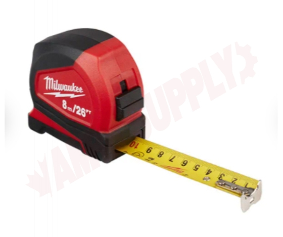 Photo 3 of 48-22-6626G : Milwaukee Compact Tape Measure, 8m/26', 2/Pack