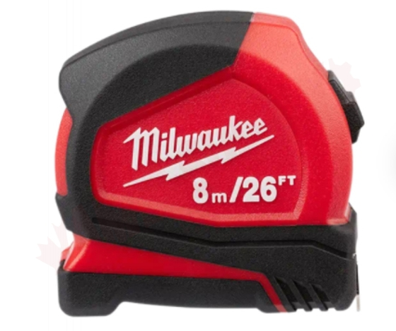 Photo 4 of 48-22-6626G : Milwaukee Compact Tape Measure, 8m/26', 2/Pack