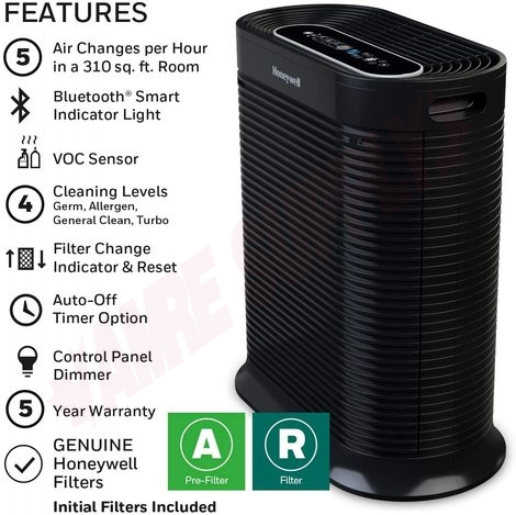 Photo 3 of HPA250B : Honeywell True HEPA Bluetooth Smart Portable Air Purifier With Allergen Remover, MAT.214-250