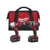 Milwaukee M18 2-tool Combo Kit, Hammer Drill & Impact Driver