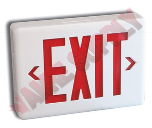 Slexpcowh Exit Sign Commercial Thermoplastic Ac Dc