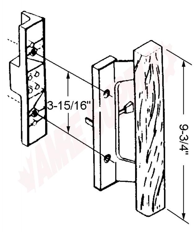 4 521s Agp Sliding Glass Door Handle Set Silver