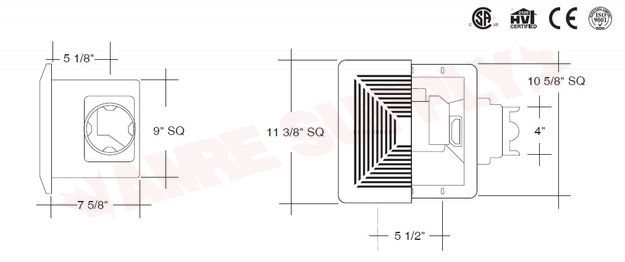 Bpt15 24a1 Pro Spec Bathroom Exhaust Fan 110 Cfm