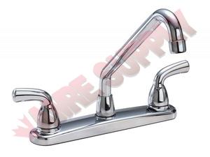 82004 Waltec 2 Handle Kitchen Faucet Washerless Metal