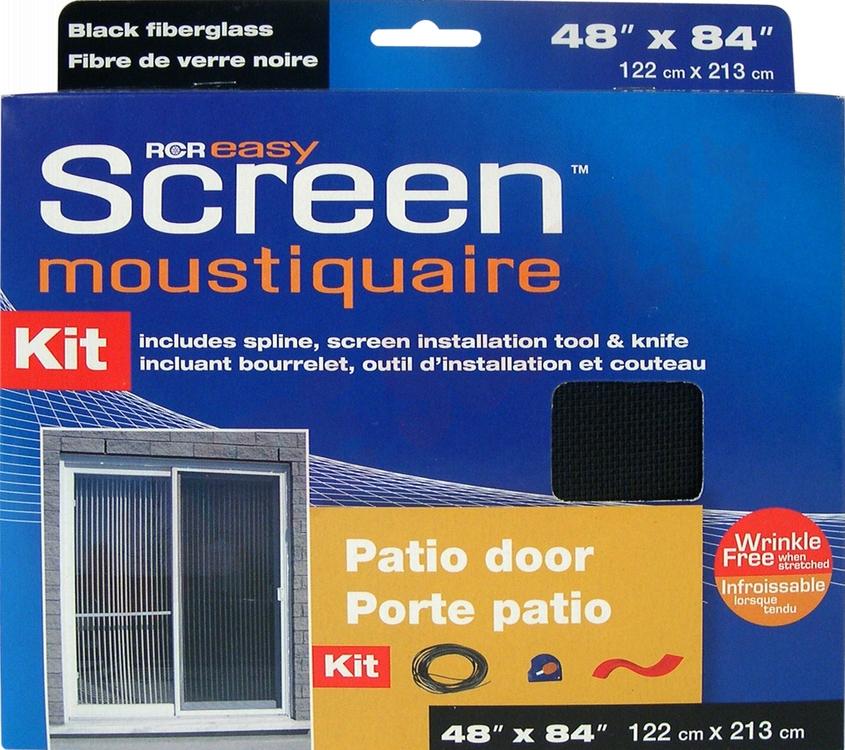 Sg4884bk Easyscreen Patio Door Screening Kit Black 48 X 84
