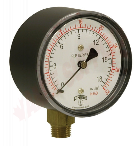 Winters PLP301 Low Pressure Gauge Bottom 0 to 32 in H2o for sale online