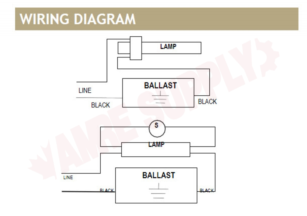 SP2 : Standard Lighting Magnetic Compact Fluorescent Ballast ... Magnetic Ballast Wiring Diagram For on