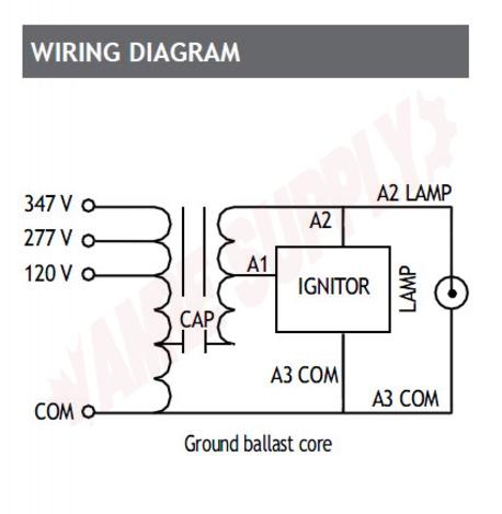 Photo 9 of BALS0400TCA : Standard Lighting Magnetic High Pressure Sodium Ballast, 120/277/347V