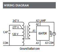 BALM0150TCL : Standard Lighting Magnetic Metal Halide Ballast, 120 on