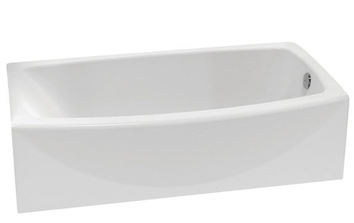 American Standard Boulevard Bathtub, Right Drain, White Acrylic